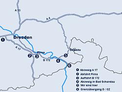 Sächsische Schweiz - Urlaub - Anreise
